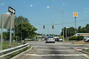 This traffic light was out at the exit ramp from I-71 to Hudson Street.