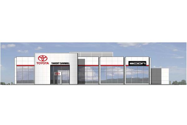 The $10 million expansion and renovation of the Tansky Sawmill Toyota dealership in Dublin is seeking LEED certification.