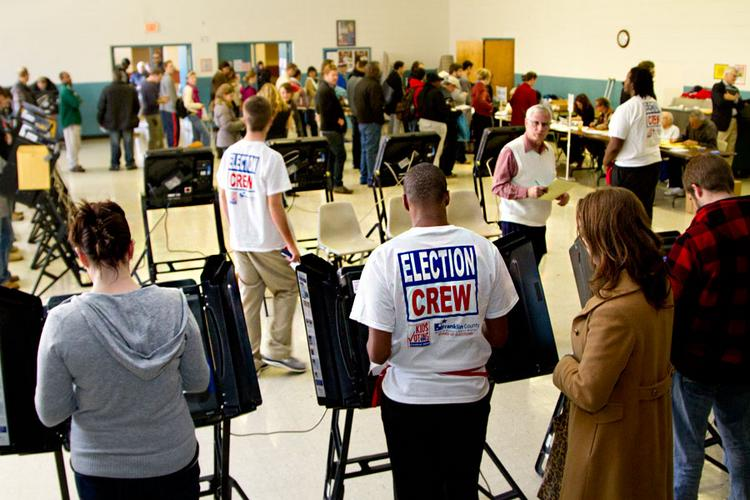 What are some weird things that you saw at the polls yesterday?