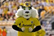 Crew Cat will be one of the mascots rappelling from the PNC Bank building downtown.