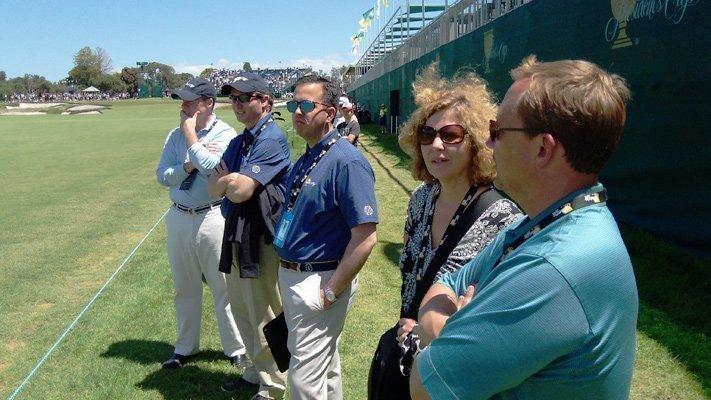 Pictured from left: Dan Sullivan, the Memorial Tournament; Alex Fischer, Columbus Partnership; Nicholas LaRocca, Muirfield Village Golf Club; Linda Logan, Greater Columbus Sports Commission; Kip McBride, HNS Sports Group.