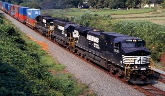 Norfolk Southern Corp's double-stacked trains are now traveling between Columbus and Cincinnati.