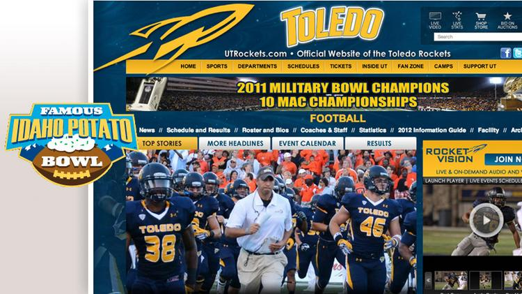Team/Record: University of Toledo (9-3)Bowl/Site: Famous Idaho Potato, Boise, IdahoTime/Date: 4:30 p.m., Dec, 15Opponent/Record: Utah State University (10-2)Payout per team: $325,000