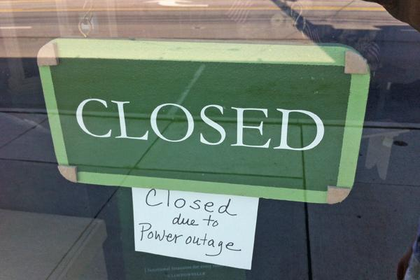 Sobo Style was among many businesses in Central Ohio closed after the weekend's storms knocked out power to many.