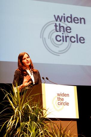 Geena Davis spoke about how women are portrayed in the media at the kickoff of the Widen the Circle initiative.