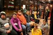 While others took refuge in a COTA bus stop in front of the Statehouse.