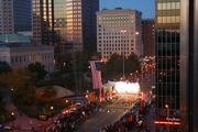 Fireworks also helped set the runners on their way in the 33rd running of the Columbus Marathon.