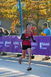 The top woman finisher in the Half Marathon was Willoughby, Ohio, native Katie McGregor in 1:13:32.