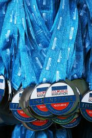 Everyone who finished, though, no matter the time, was rewarded with a medal.