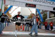 The winner of the full marathon was first-time participant in Columbus Craig Curley, a Navajo from Santa Fe, N.M., who finished in 2:19:03. (The finish line clock was off by two seconds.)