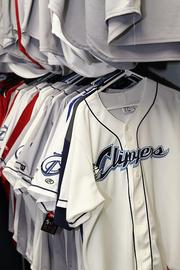 Jerseys in a variety of styles await the players.