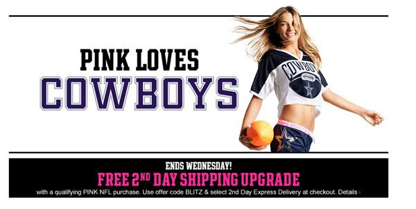 Limited Brands Inc.'s Victoria's Secret chain is selling Dallas Cowboys-branded merchandise in a dedicated store at Cowboys Stadium.