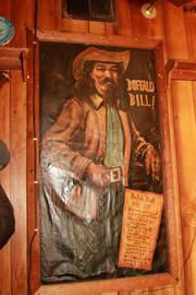 The Annie Oakley painting was paired with one of Buffalo Bill, who she toured with as part of his famous Wild West show.