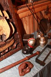 Other knick knacks are related to sports.