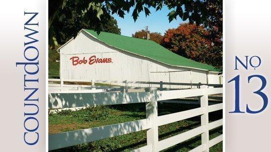 No. 13: Bob Evans Farms Inc. Price change since Feb. 28, 2012: 4.6 percent Close price June 1: $39.11