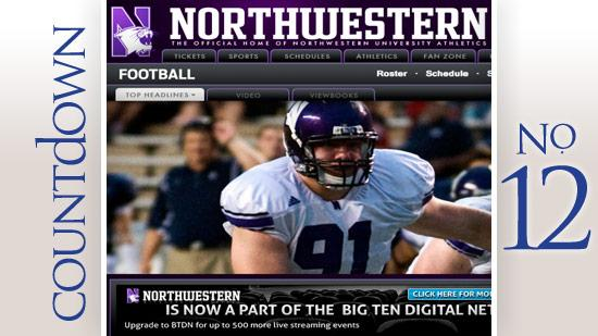 No. 12: Northwestern University Stadium: Ryan Field Average percent full: 71 percent Average attendance: 33,442