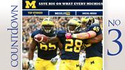 No. 3: University of Michigan Stadium: Michigan Stadium Average percent full: 102 percent Average attendance: 112,179