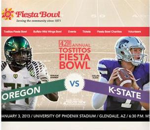 The Oregon Ducks were victorious in the Fiesta Bowl against the Kansas State University Wildcats.