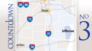 No. 3: Jefferson CountyPermitted: 26Drilled: 12Completed: 4Producing: 0