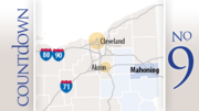 No. 9: Mahoning CountyPermitted: 12Drilled: 1Completed: 1Producing: 0
