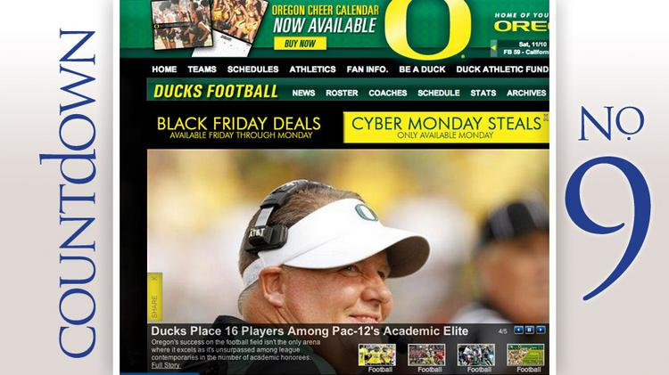 University of Oregon football coach Chip Kelly made $3.5 million in 2012, according to an analysis by USA Today.