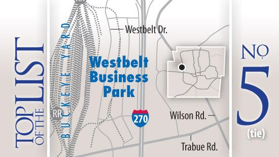 No. 5: Westbelt Business ParkSquare feet of completed space: 4 millionTenant sampling: CSX, Birchwood Foods