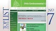 No. 7: Ohio Environmental Council 2011 lobbying expenditure in Ohio:$13,785