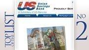 No. 2: Union Savings Bank 2011 home loans closed:4,491