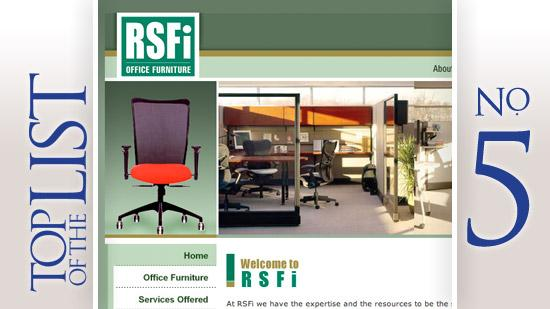 No. 5: RSFI Office FurnitureBased: WorthingtonArea employees: 36