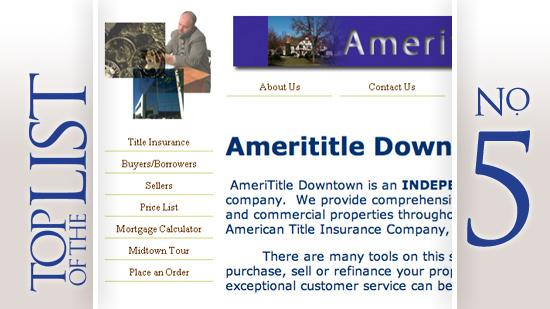 No. 5: AmeriTitle Where: Columbus Year founded: 1990 2010 revenue in Central Ohio: $1.2 million