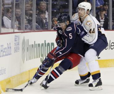 Corporate sponsors have been latching on to the Columbus Blue Jackets.