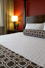 And the bedding features 250-thread-count sheets.