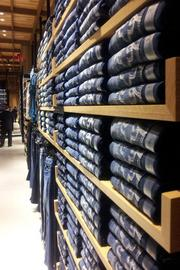 Denim gets its own section too.