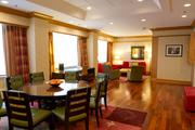 The Capitol Suite has a dining area and a living room.