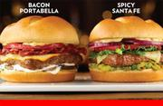 Wendy's is testing Black Label burgers as an upgraded extension to its burger line. In Columbus, it's selling the Bacon Portabello with mushrooms, bacon, muenster cheese and garlic aoli and the Spicy Santa Fe with pepper jack cheese, cilantro, jalapenos and guacamole.