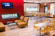 The Bethel Road restaurant's interior was designed to be more inviting and less like traditional fast-food seating. Wendy's wants to emulate fast-casual burger chains, which have been luring away customers.
