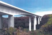 A rendering of what the replacement for the Jeremiah Morrow Bridge north of Cincinnati, the state's tallest, will look like.