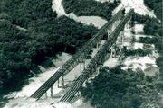 A photo showing the Jeremiah Morrow Bridge when it was under construction. The bridge opened in 1965 and will reach its 50-year lifespan in 2015, pushing the state to replace it.