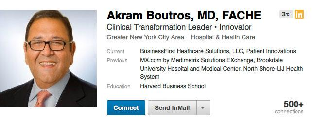 MetroHealth's new CEO is Akram Boutros.