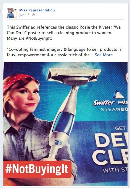 P&G responded to a backlash on social media over its Swiffer ad featuring a Rosie the Riveter likeness by pulling the image. The company apologized on Twitter.