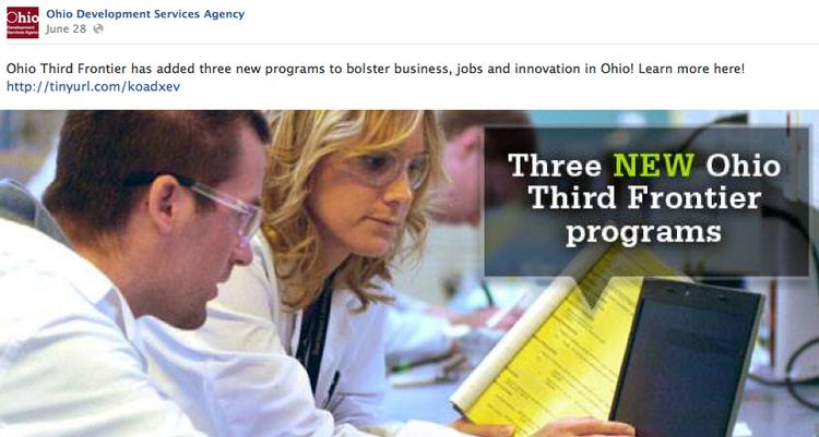 The Ohio Development Services Agency is rolling out new programs for tech commercialization as part of the state's Third Frontier Program.