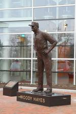 Woody Hayes statue added to Ohio State football headquarters