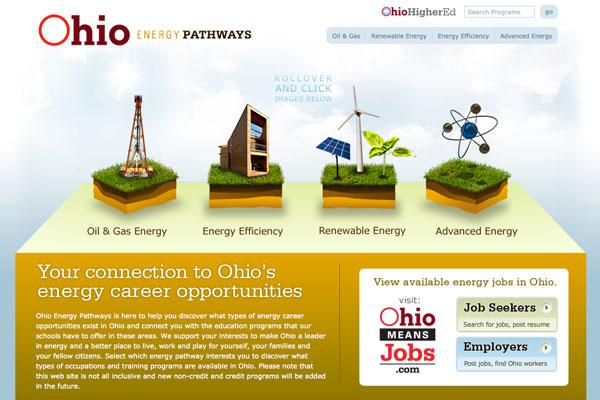 OhioEnergyPathways.org provides information for Ohioans looking for work in the energy industry.