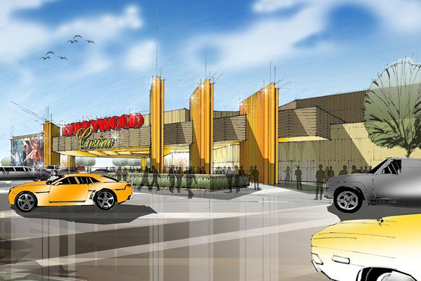 "Plans for Columbus' casino, set to break ground Monday, call for a ""golden age of Hollywood"" look."