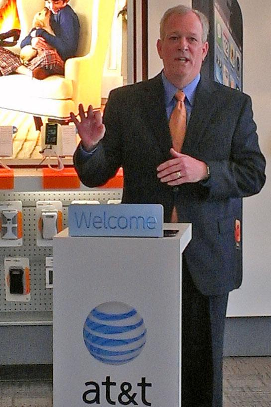AT&T Ohio Vice President Rob Reynolds heralded the arrival of 4G LTE in Columbus during a press conference Monday.