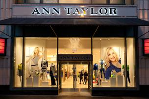 This is an exterior photo of an Ann Taylor store renovated with the company's new design.