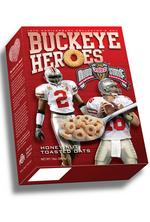 Giant Eagle stocks shelves with cereal commemorating Buckeyes' 2002 national championship