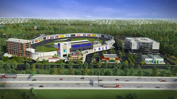 Plans to convert Cooper Stadium into a racetrack and automotive research and technology center dubbed Cooper Park have been met with fierce opposition over noise concerns.