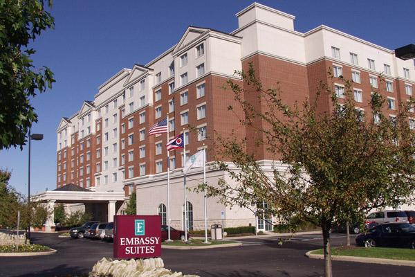 The 284-room Embassy Suites in Dublin is for sale.