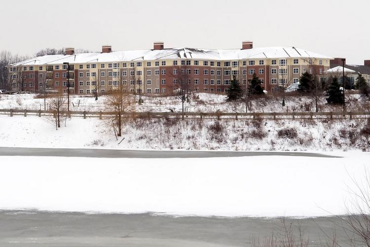 A file photo from this winter shows the unfinished Hickory Chase complex in Hilliard.